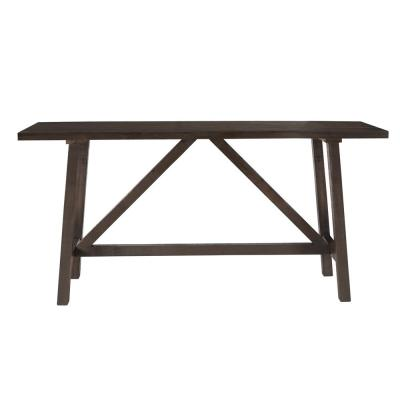 78 in. Dark Pine Standard Rectangle Wood Console Table