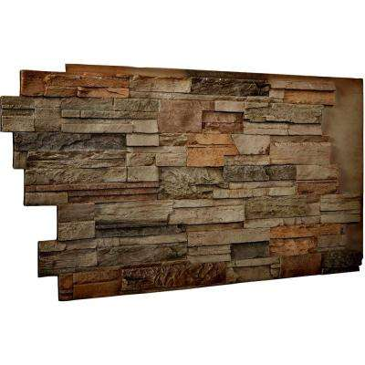 1-1/2 in. x 48 in. x 25 in. Terrastone Urethane Dry Stack Stone Wall Panel