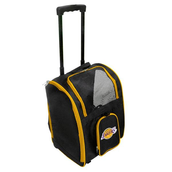 Denco NBA Los Angeles Lakers Pet Carrier Premium Bag with wheels