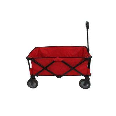 4.7 cu. ft. 19 in. Folding Utility Cart in Red