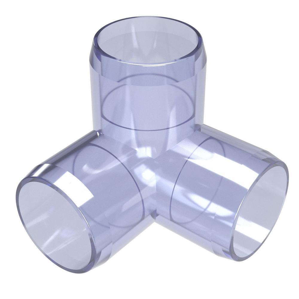 Blue 1 Size FORMUFIT F00190E-BL-4 90 Degree Elbow PVC Fitting Pack of 4 Furniture Grade