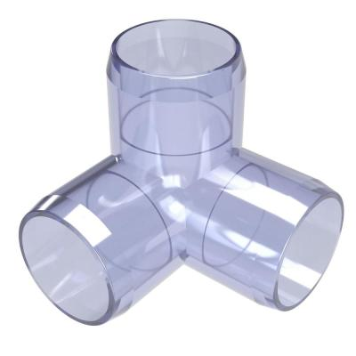 1-1/4 in. Furniture Grade PVC 3-Way Elbow in Clear