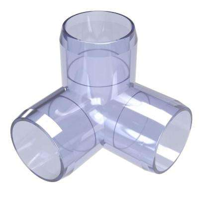 3/4 in. Furniture Grade PVC 3-Way Elbow in Clear