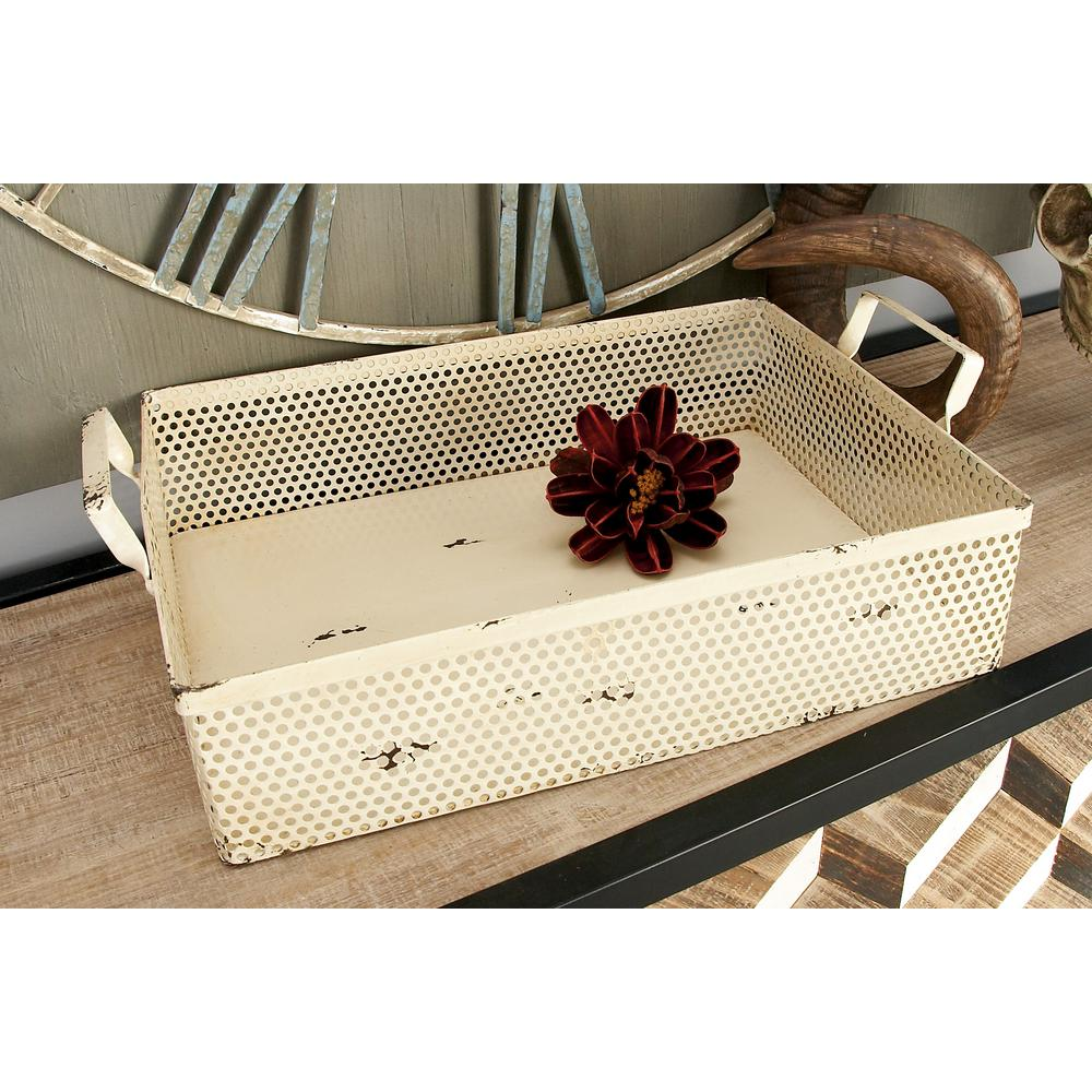 Farmhouse Rectangular Iron Trays (Set of 4)