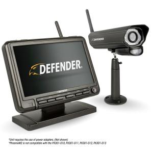 PHOENIXM2 Digital Wireless 7 In Monitor DVR Security System With Night Vision Camera And SD