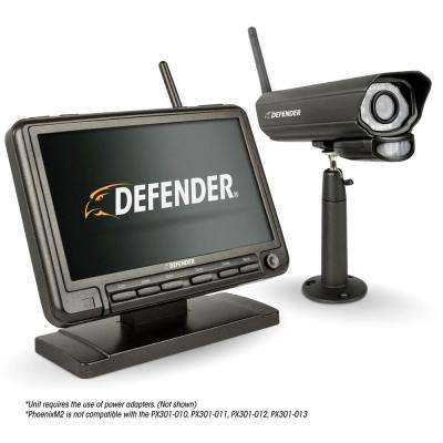 PHOENIXM2 Digital Wireless 7 in. Monitor DVR Security System with Night Vision Camera and SD Card Recording