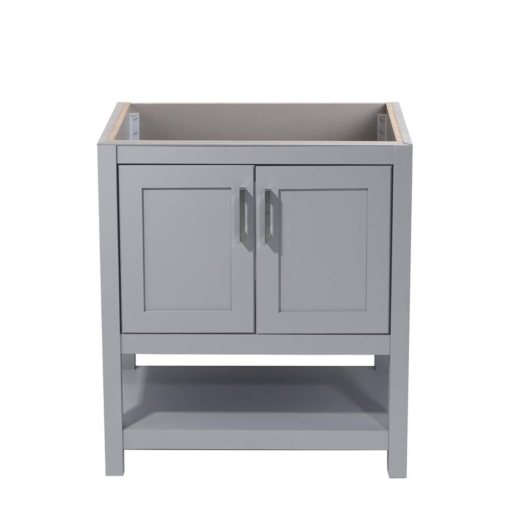 Tufino 31 in. W x 22 in. D Bath Vanity Cabinet Only in Grey