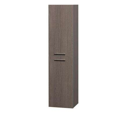 Amare 13-3/4 in. W x 56 in. H x 12 in. D Bathroom Linen Storage Cabinet in Grey Oak