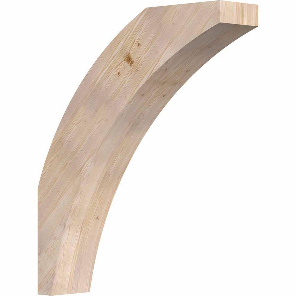 Ekena Millwork 5.5 in. x 28 in. x 24 in. Douglas Fir Thorton Smooth Brace