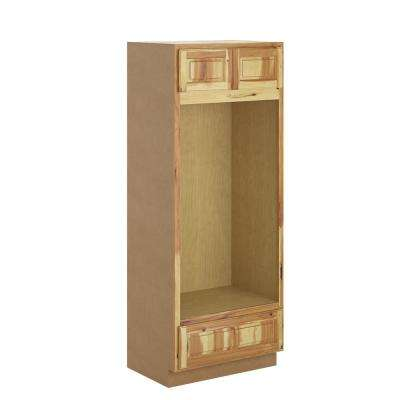 Madison Assembled 33x84x24 in. Pantry/Utility Double Oven Cabinet in Pure Hickory