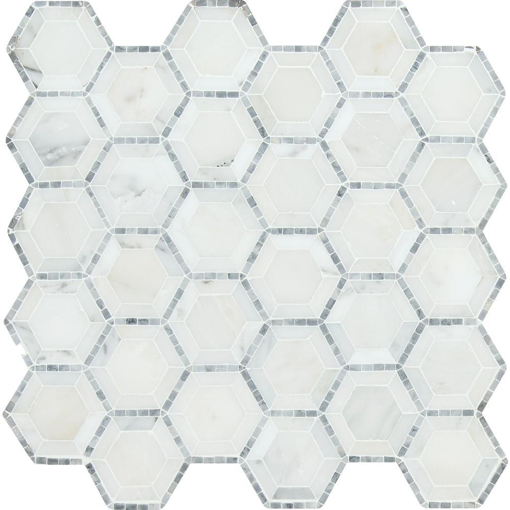 Telaio Hexagon 12 in. x 12 in. x 10 mm Honed
