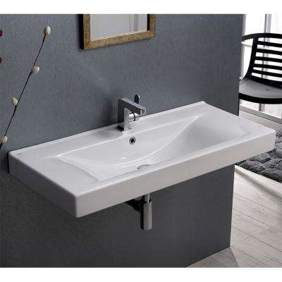 Mona Wall Mounted Bathroom Sink in White