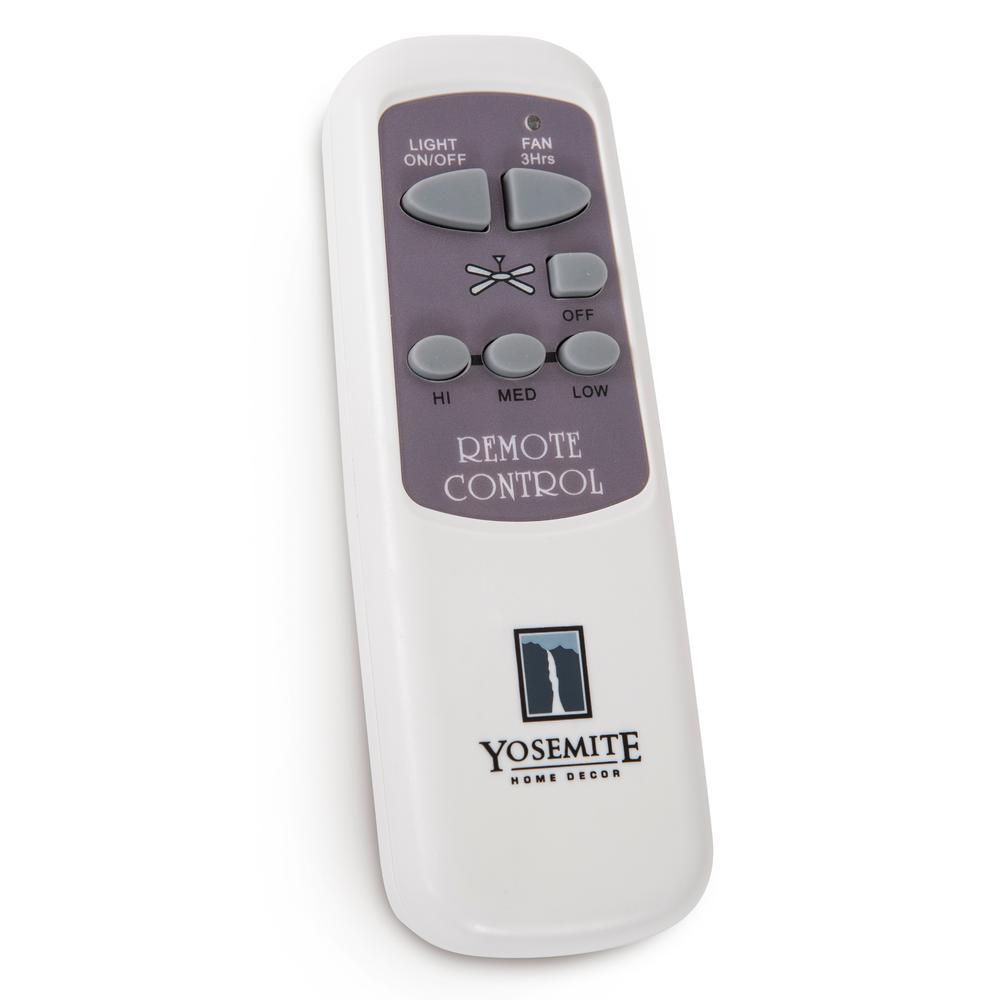 Yosemite home decor remote control for ceiling fans with 7 for Home decorators remote