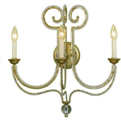 6738 3-Light Soft Gold Wall Sconce