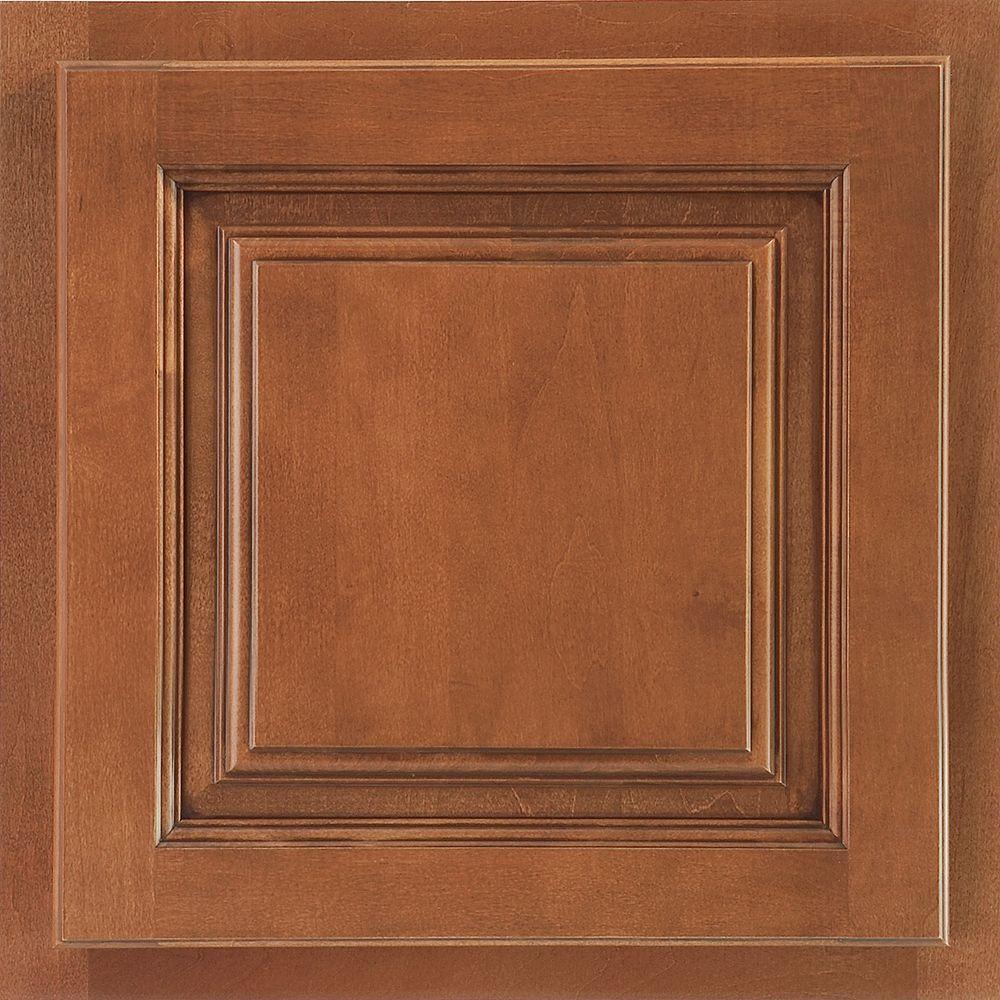 13x12-7/8 in. Cabinet Door Sample in Newport Maple Auburn Glaze