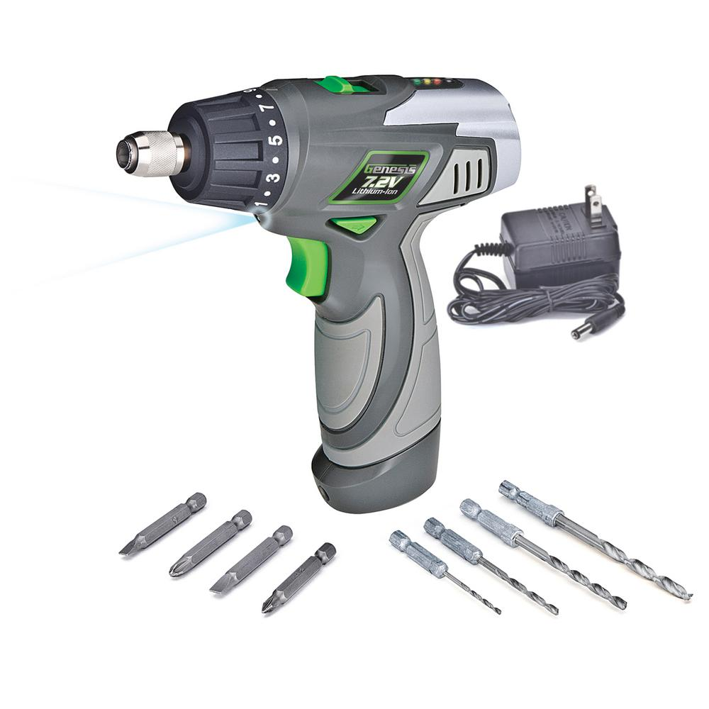 7.2-Volt Lithium-Ion 1/4 in. Electric Screwdriver