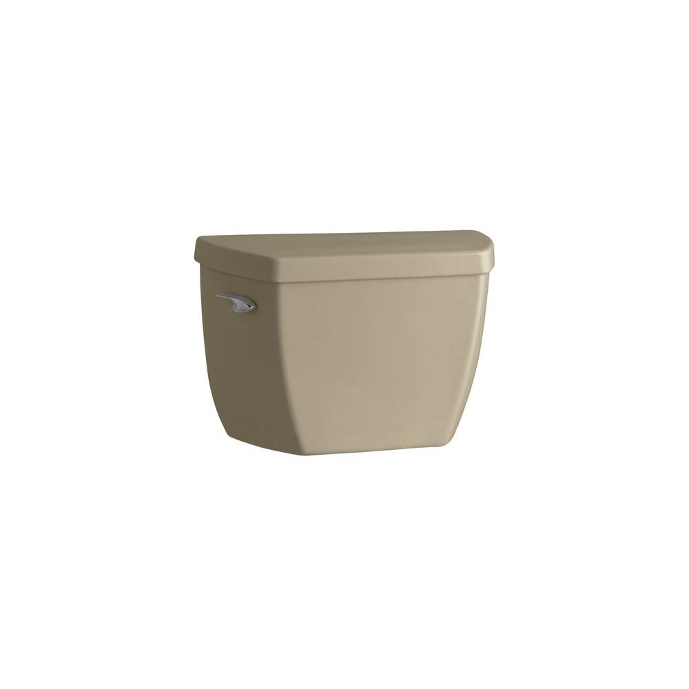 KOHLER Highline Classic Toilet Tank Only with Tank Cover Locks and Left-Hand Trip Lever in Mexican Sand