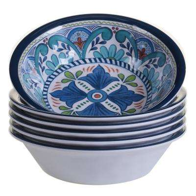 Talavera 6-Piece Blue Bowl Set