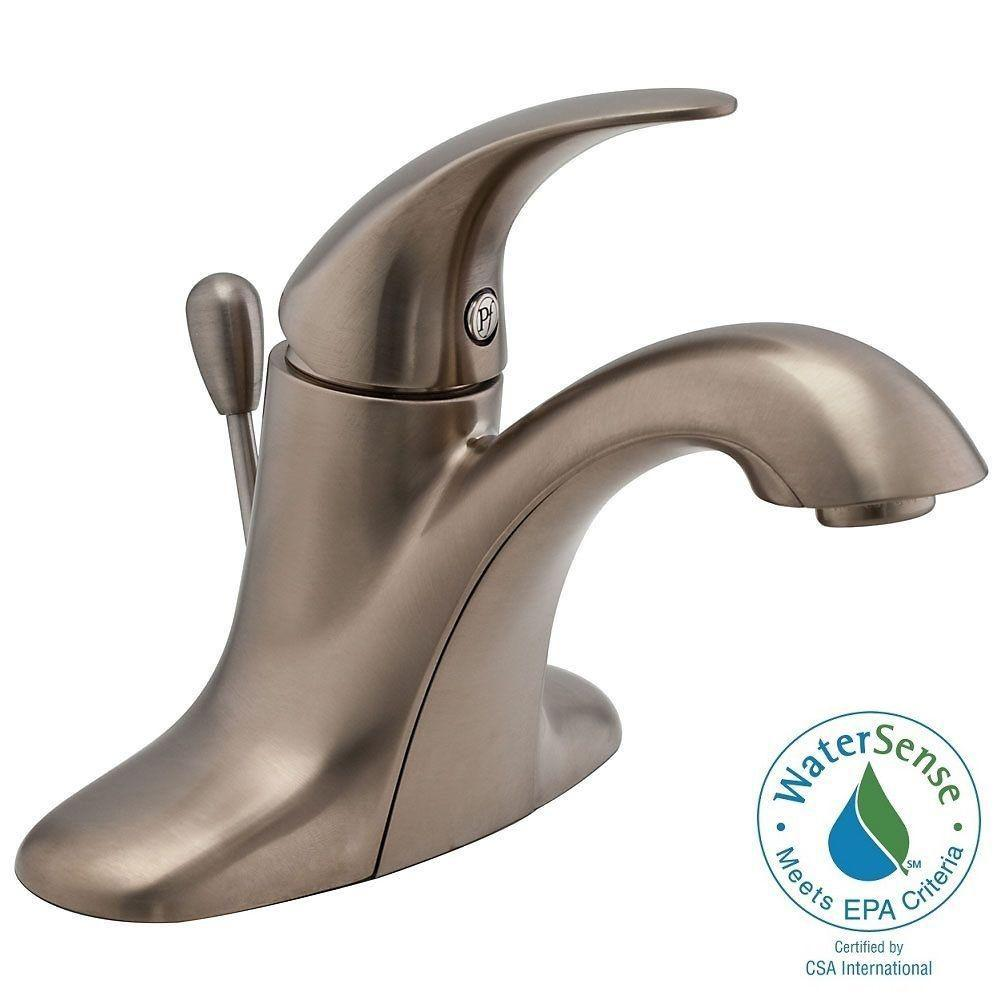 Pfister Serrano 4 in. Centerset Single-Handle Bathroom Faucet in Brushed Nickel