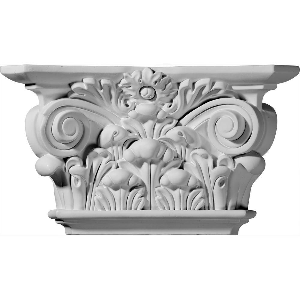 12-1/4 in. x 3-1/2 in. x 6-7/8 in. Primed Polyurethane Acanthus