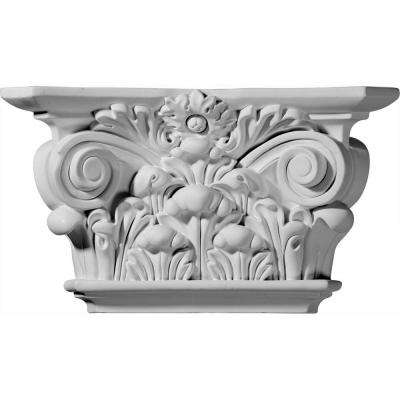 12-1/4 in. x 3-1/2 in. x 6-7/8 in. Primed Polyurethane Acanthus Leaf Capital