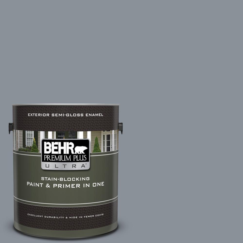Behr Premium Plus Ultra 1 Gal Ppu18 04 Dark Pewter Semi Gloss