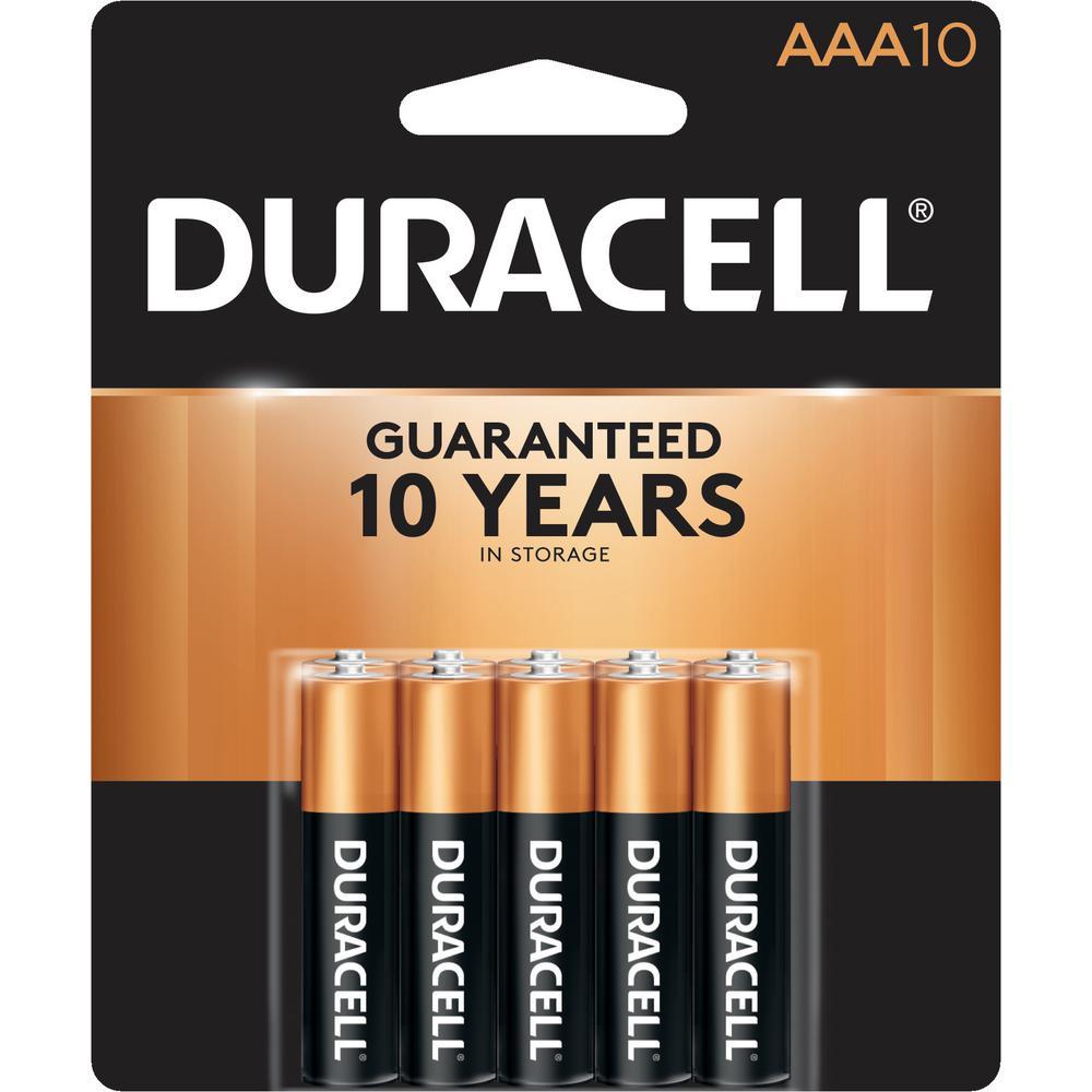 Duracell Coppertop Alkaline AAA Battery (10-Pack)