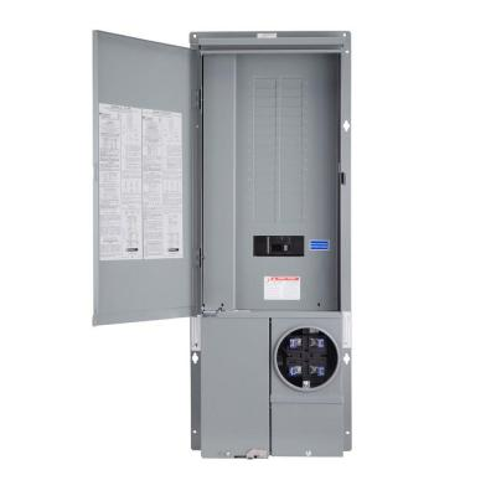 Homeline 200 Amp 30-Space 42-Circuit Outdoor Ring-Type Semi-Flush Mount Solar-Ready Main Breaker Plug-On Neutral CSED
