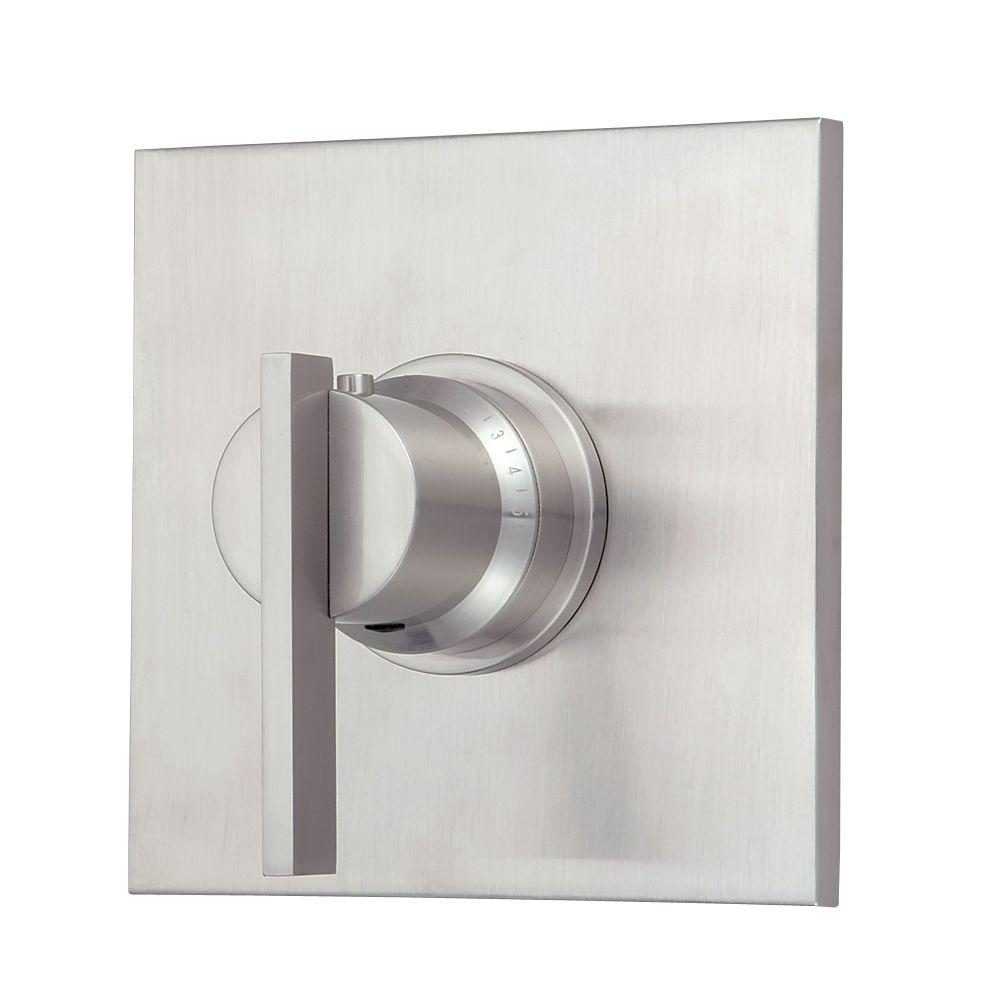 Danze Sirius 3/4 in. Thermostatic Shower Valve Trim Only in Brushed ...