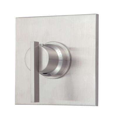 Sirius 3/4 in. Thermostatic Shower Valve Trim Only in Brushed Nickel