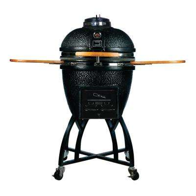 Kamado Pro Ceramic Charcoal Grill with Grill Cover