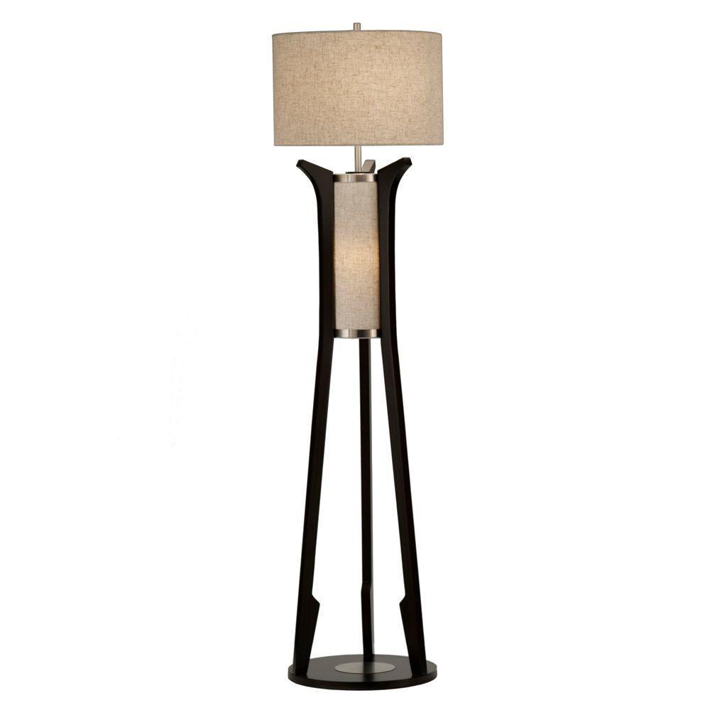 NOVA Astrulux 62 in. Pecan Incandescent Floor Lamp