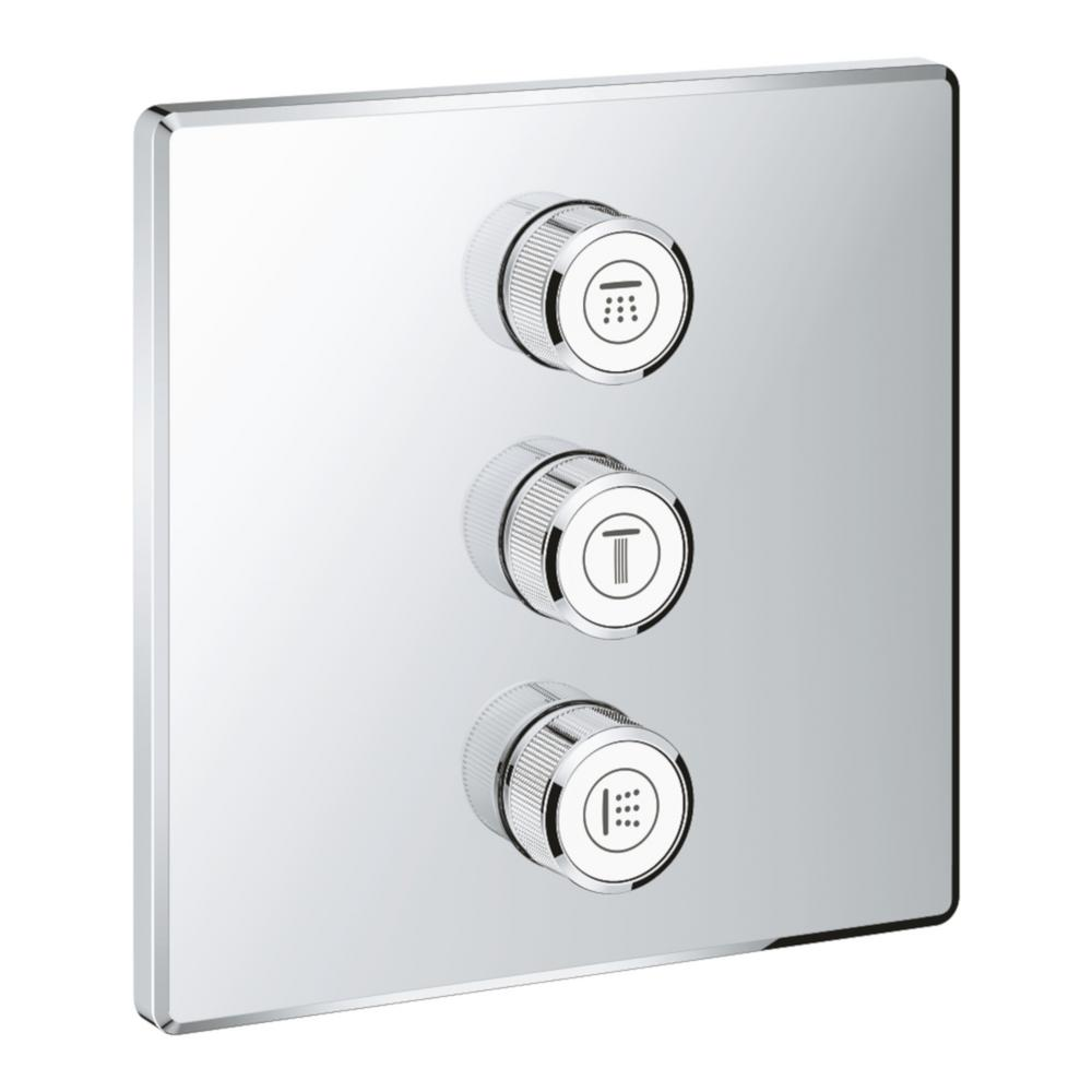GROHE GROHE 3-Diverter Square Smart Control, StarLight Chrome