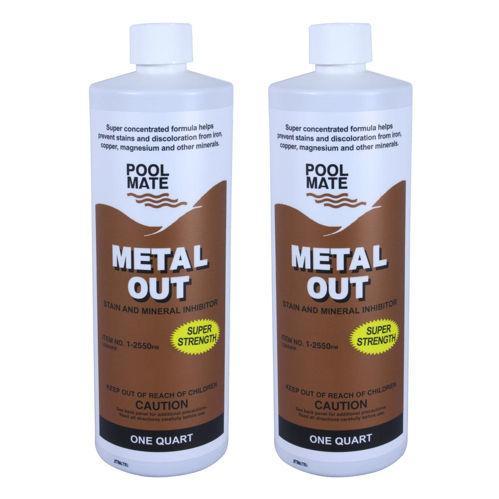 Pool Mate 1 Qt Pool Metal Out Stain And Mineral Remover