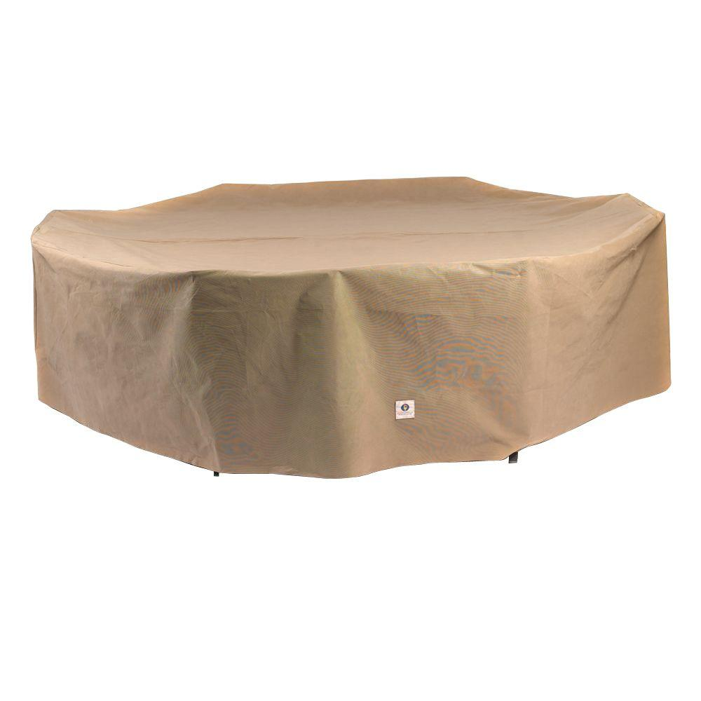 Patio table covers oval table ideas duck covers essential 140 in l rectangle oval patio table and chair set cover watchthetrailerfo