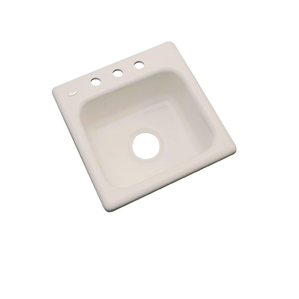 Manchester Drop-In Acrylic 16 in. 3-Hole Single Bowl Kitchen Sink in