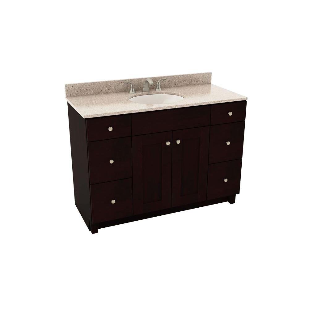 American Woodmark Reading 49 In Vanity In Espresso With