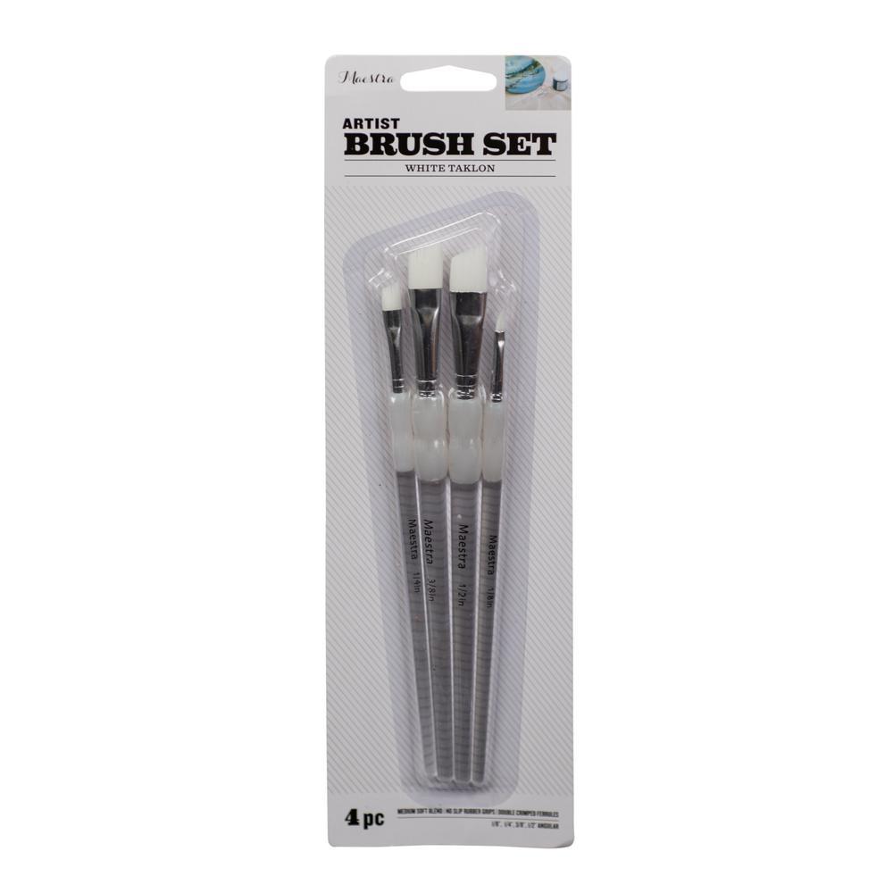 Taklon Craft Brush Set-4//pkg