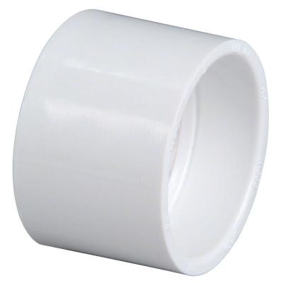 6 in. PVC DWV Hub x Hub Coupling Fitting