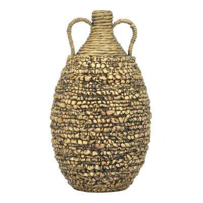Water Hyacinth Brown Decorative Vase