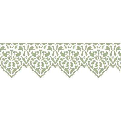 Pointed Lace Border Wall Stencil