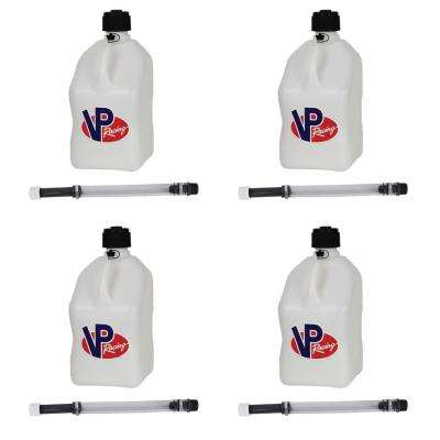 5 Gal. Motorsport Racing Utility Jug Can Container and 14 in. Hose (4-Pack)