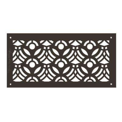 Frank Lloyd Wright Collection April Flowers Grille 6 in. x 14 in. Aluminum Antique Bronze Finish
