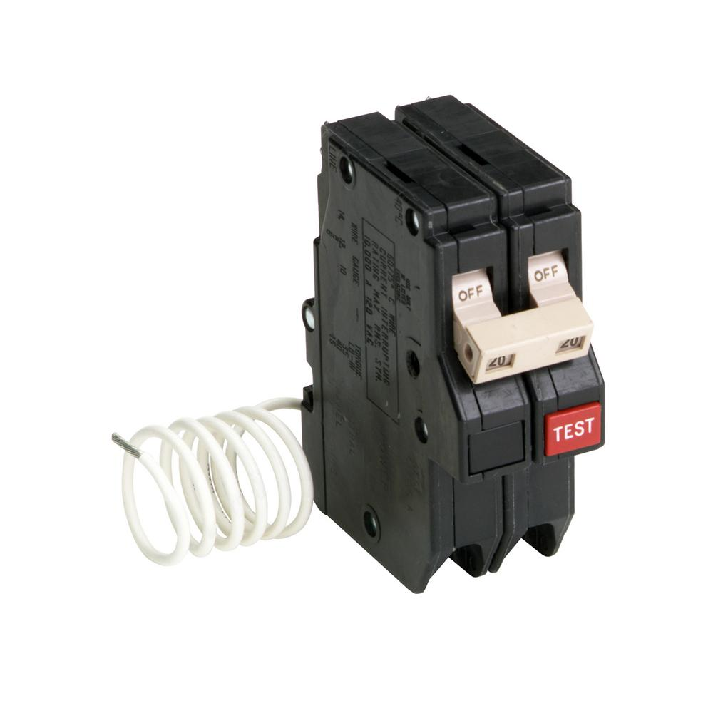 30 Amp 3 4 In Double Pole Type Ch Circuit Breaker Ch230 The Home Also Referred To As Return Wire That Completes 20 2 Self Test Ground Fault