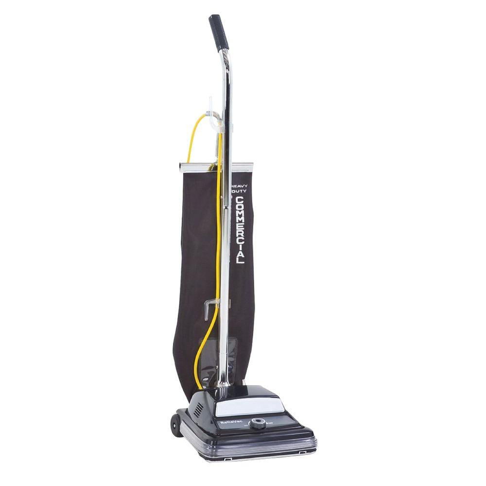 Clarke ReliaVac 12 HP Commercial Upright Vacuum Cleaner The Clarke ReliaVac single motor upright vacuums are easy to maneuver, strong on power, and designed for fast, low cost serviceability. Available in 12 and 16 in. cleaning paths. The ReliaVac gives you the power and pickup needed for all applications.