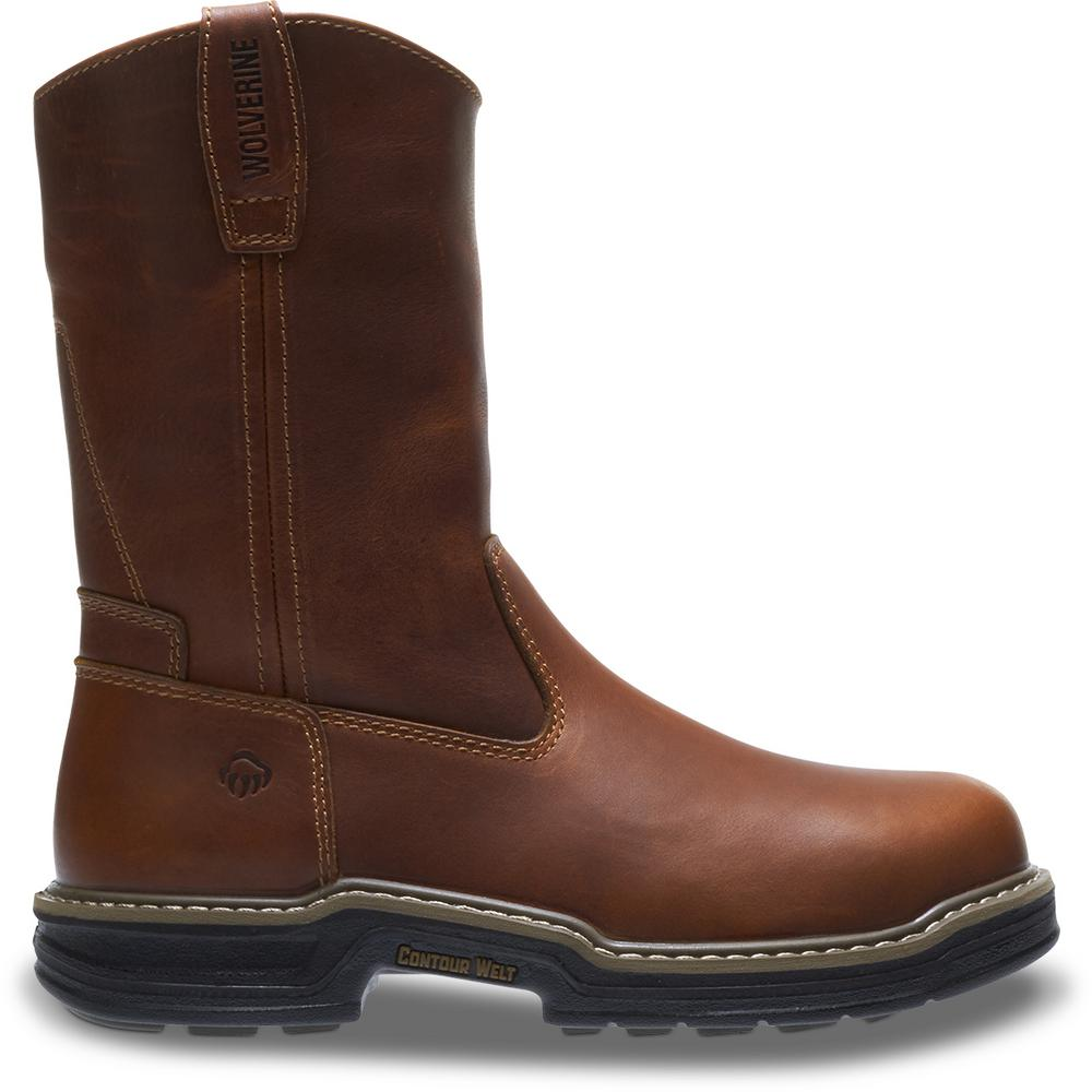 df0652707c0 Wolverine Men's Raider Size 10.5EW Brown Full-Grain Leather 10 in. Boot