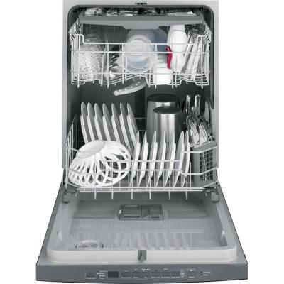 24 in. Black Slate Top Control Smart Built-In Tall Tub Dishwasher 120-Volt with 3rd Rack and 50 dBA