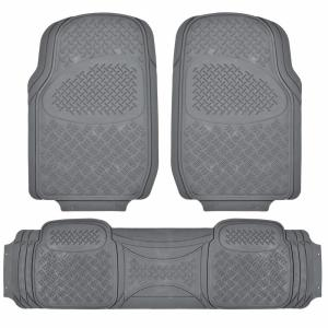 BDK All Weather MT-713 Gray Heavy Duty 3-Piece Car or SUV or Truck Floor Mats by BDK