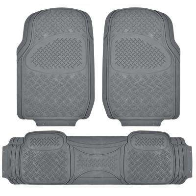 All Weather MT-713 Gray Heavy Duty 3-Piece Car or SUV or Truck Floor Mats