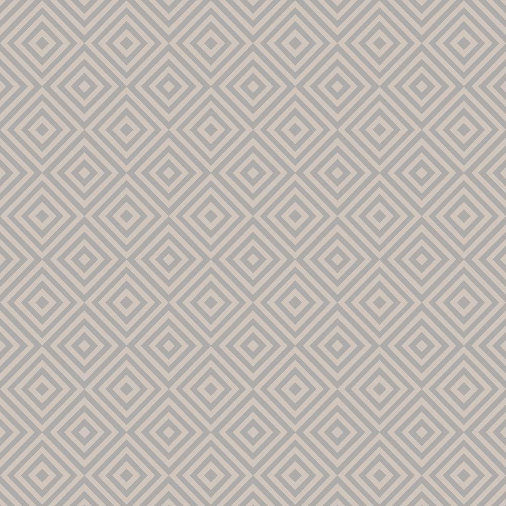 Metropolitan Grey Geometric Diamond Wallpaper